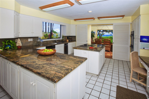 Kitchen in Kailua vacation home