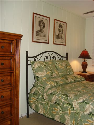 One of the bedrooms in vacation house