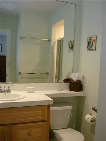 One of the bathrooms in Kailua vacation house