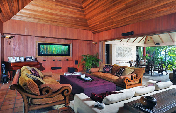 Media Room in Diamond Head Vacation Home