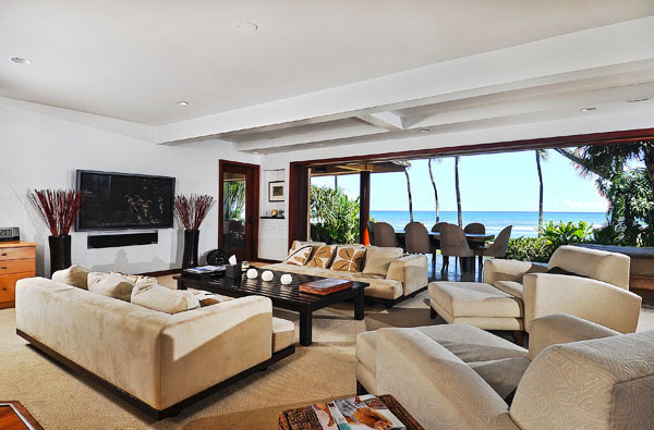 Living room looking at ocean