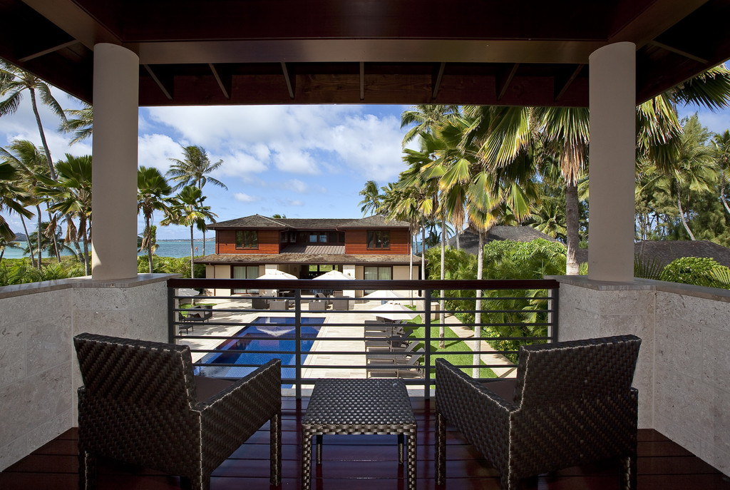 Guest House lanai view of pool