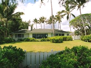 View of house from Kailua beach