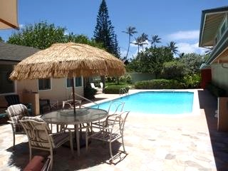 Swimming pool at Hale Honu, Kailua vacation rental home